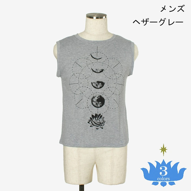タンク クレッセントロータス メンズ/ユニ Men's tank top Crescent Lotus