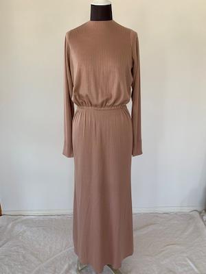 Robe noeud dress : open back / jersey dark pink