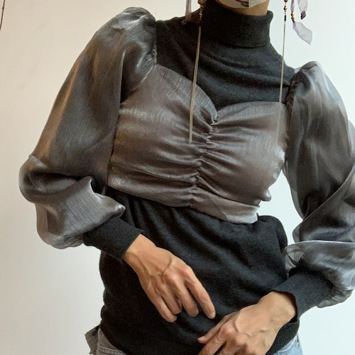 il - see-through tops