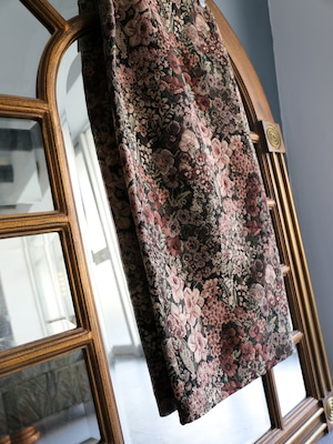 flower jacquard long skirt(pink brown)