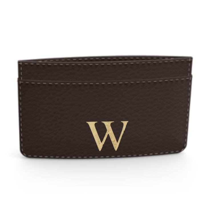 Premium Shrink Leather Card Case (Cigar Brown)