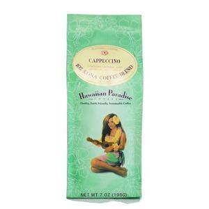 カプチーノ(挽き済みの粉) ハワイアンパラダイス(7oz 198g) ハワイコナコーヒー フレーバーコーヒー