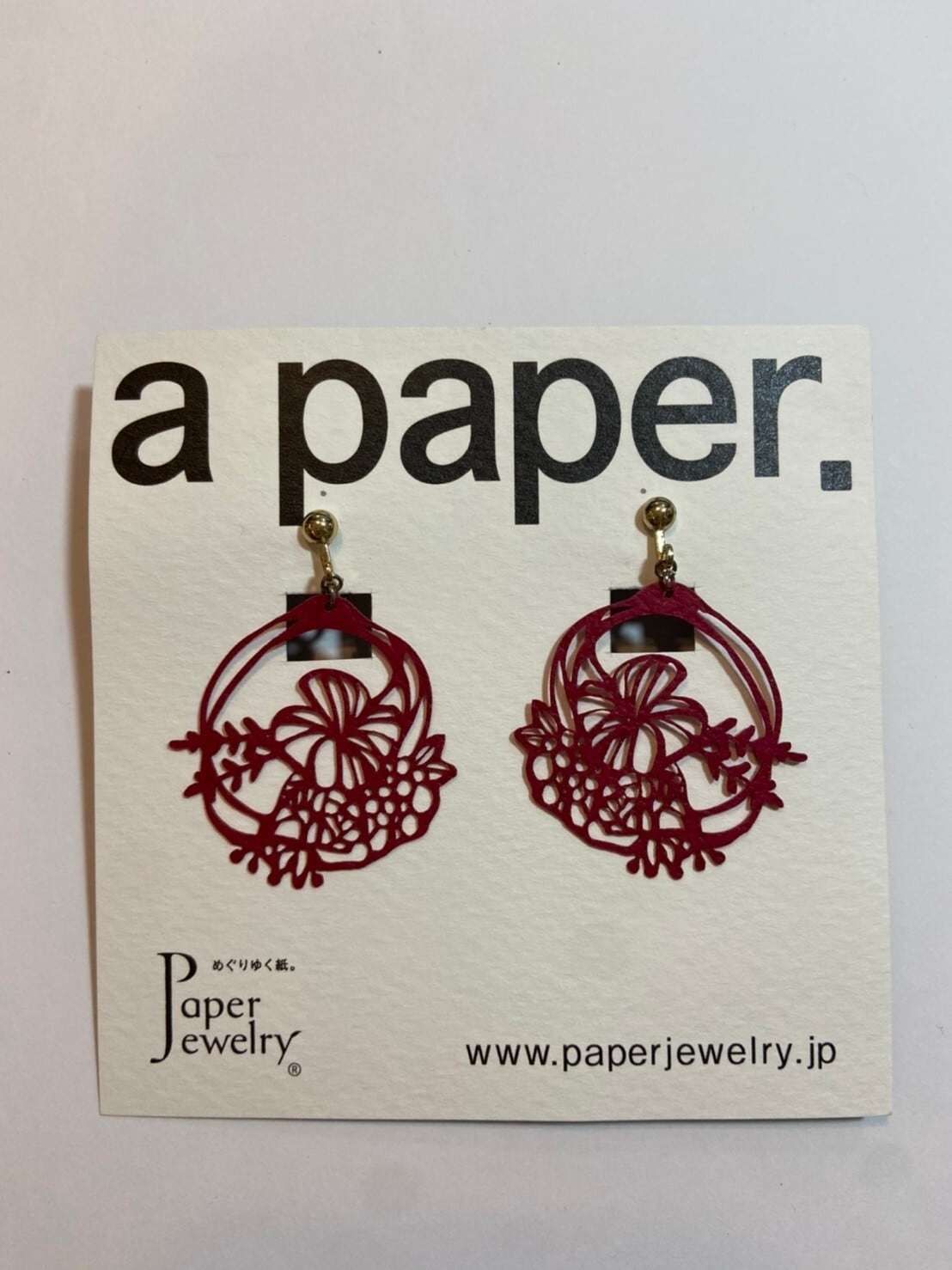【Paper Jewely】ブーケ/イヤリング