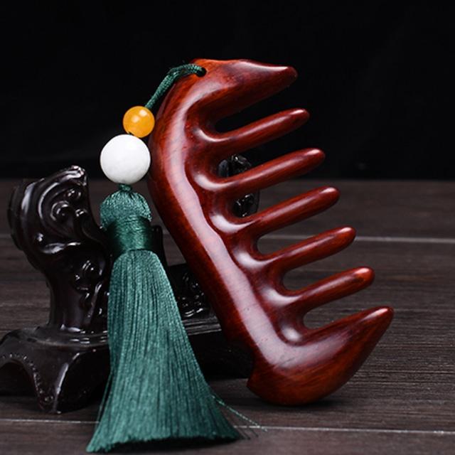 【TIANTIANシリーズ】★櫛+飾り物を含む★ ヘアコーム マッサージ 木製 クシ くし 天然檀木 ギフト 友達 フリンジ