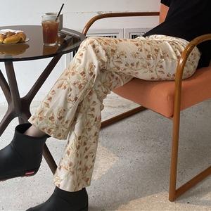 Retro flower straight pants(レトロフラワーストレートパンツ)b-299