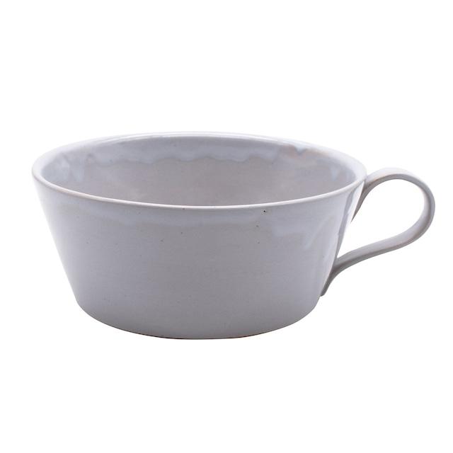 笠間焼 向山窯 スープカップ マグ 約500ml グレー 255688
