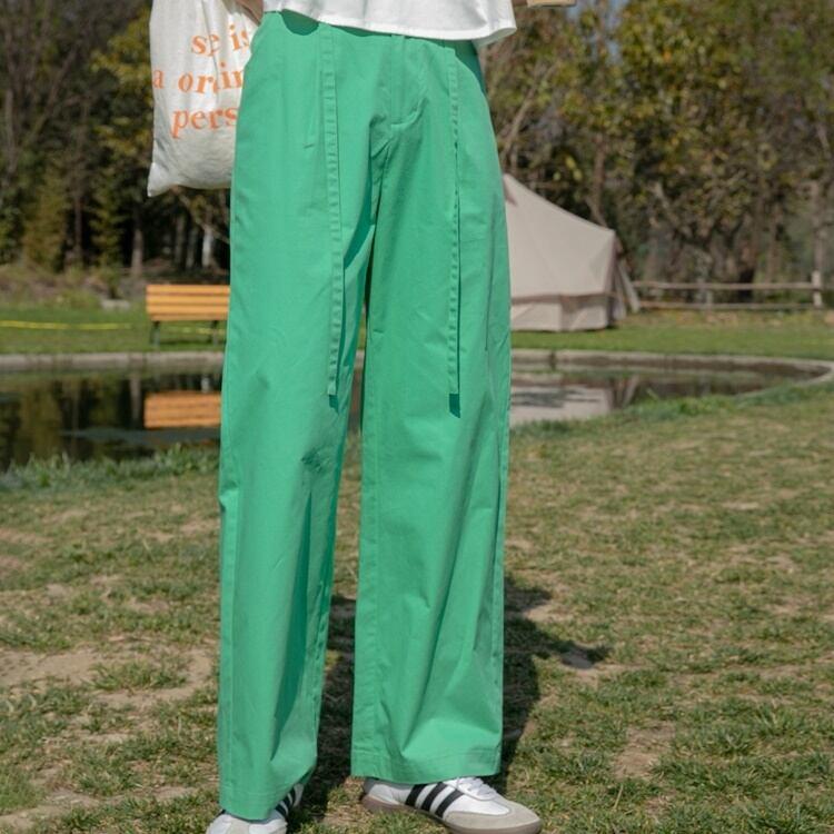 Cotton wide pants(コットンワイドパンツ)b-193