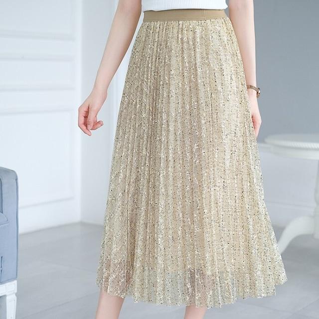花柄シースルースカート