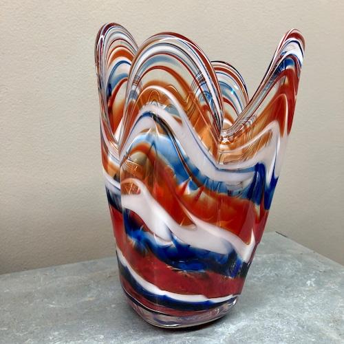 Vintage flower vase ガラス花瓶