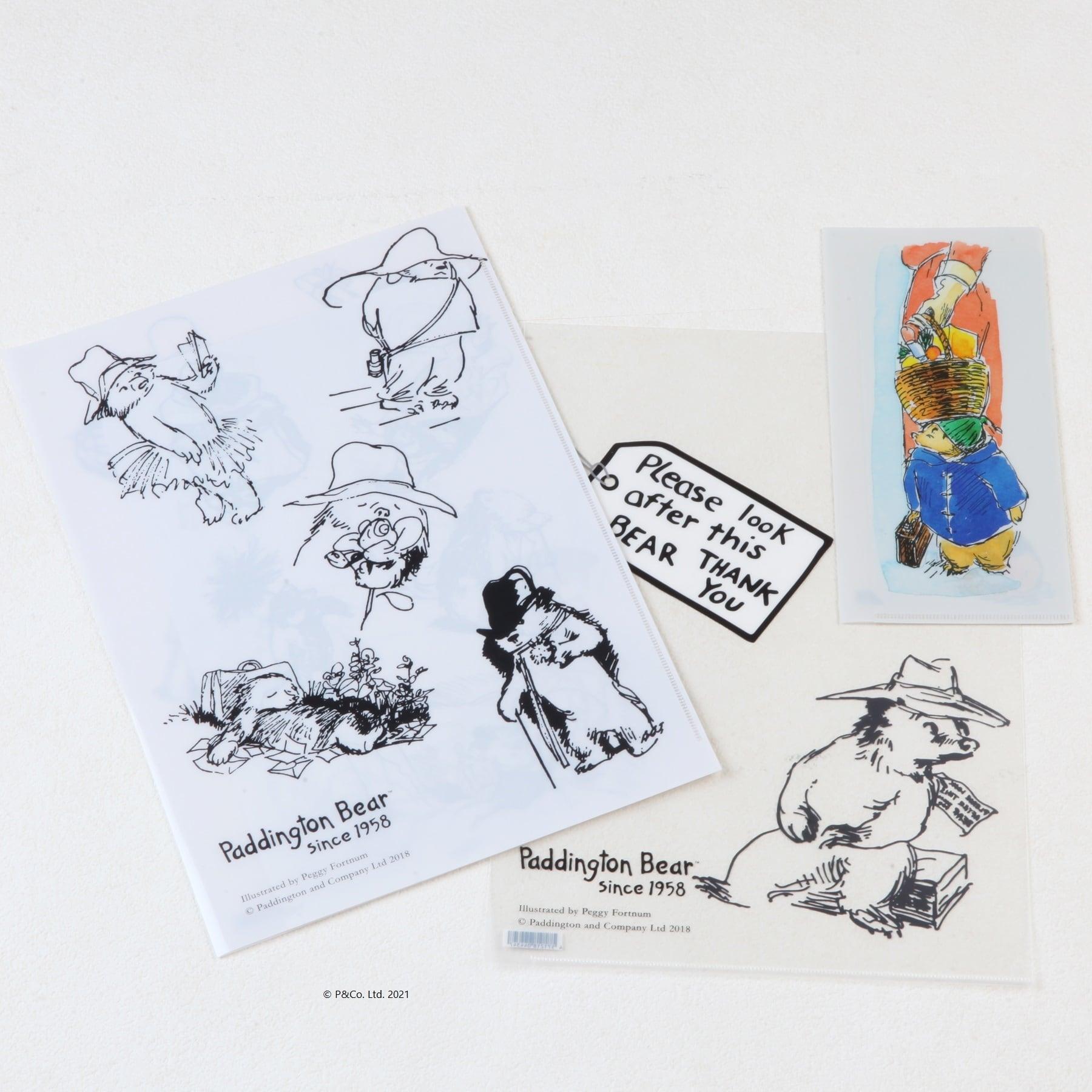 「くまのパディントン™展」展覧会オリジナルのファイルセット(3枚)