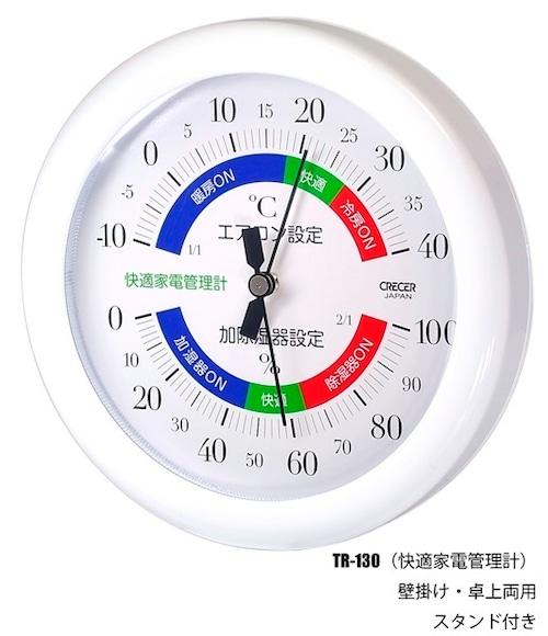 CRECER(クレセル) TR-130   アナログ温湿度計 快適家電管理計