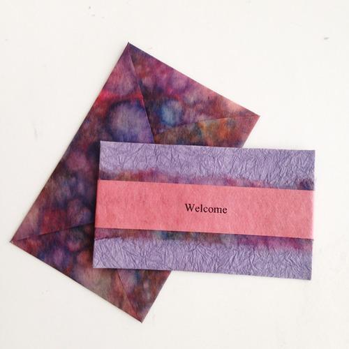和紙のウェルカムカード(Welcome003)