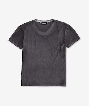 染色加工Tシャツ / チャコールブラック