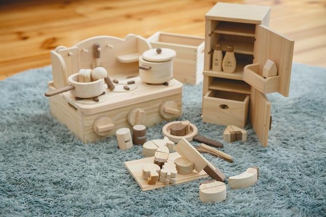 クッキングセット COOKING SET ※送料無料   | 木のおもちゃ 誕生日祝い ままごとセット