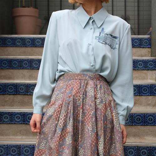 RETRO EMBROIDERY LONG SLEEVE SHIRT/レトロ古着刺繍長袖シャツ