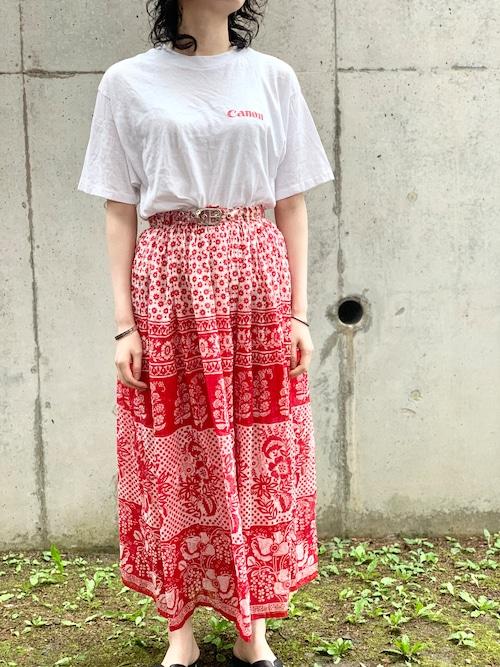 vintage Indian Cotton Skirt ③