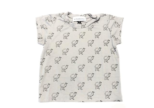 【20SS】arkakama (アルカカマ) VISCOSE SS Tee【ラクダ】XL Tシャツ