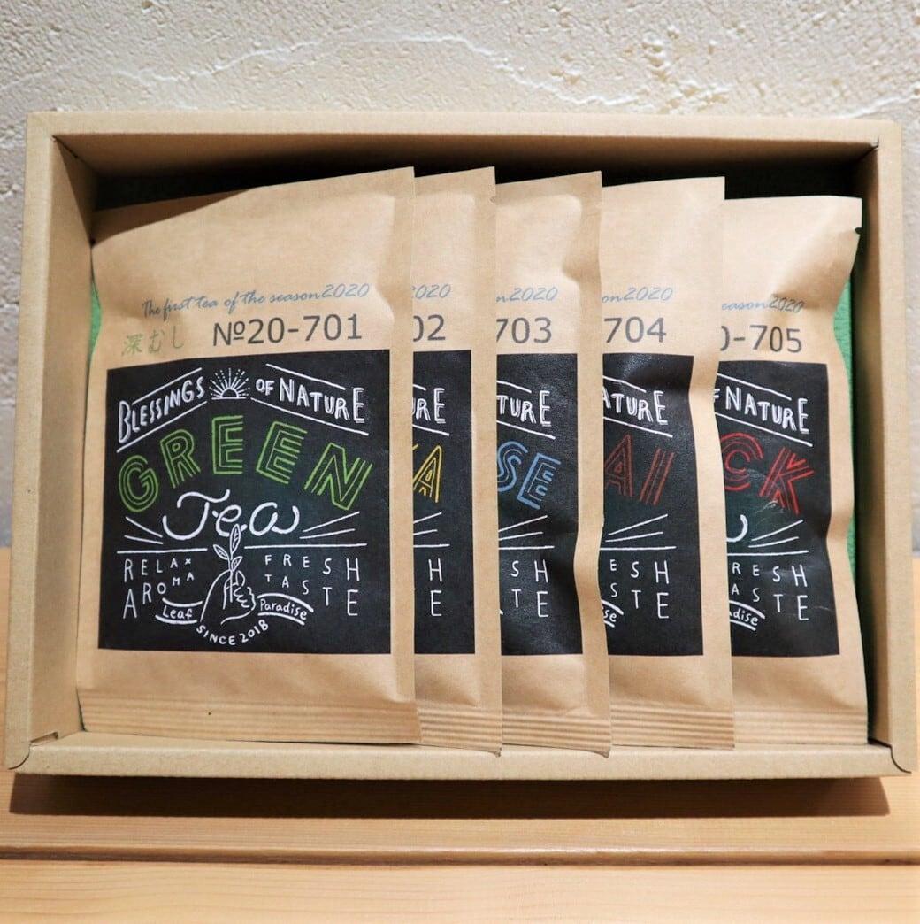 【静岡】FIEJA ×Leaf Paradiseオリジナルブレンドティー5種ギフトBOX Original 5 assorted tea / gift box