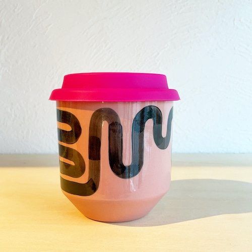 """STEPH LIDDLE  """"The Moment Cup"""" Wiggle -pink stoneware"""