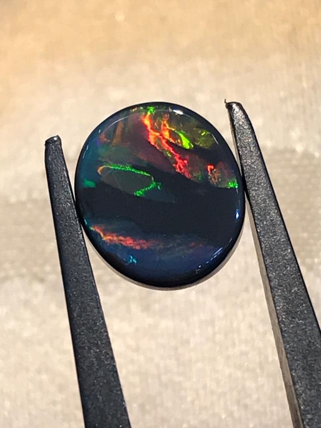 【10月誕生石SALE】実物の方が美麗☆ブラックオパール 1.837ct