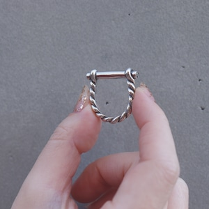 RING || 【予約商品】D ROPE RING SIZE S || 1 RING || SILVER || FCF142