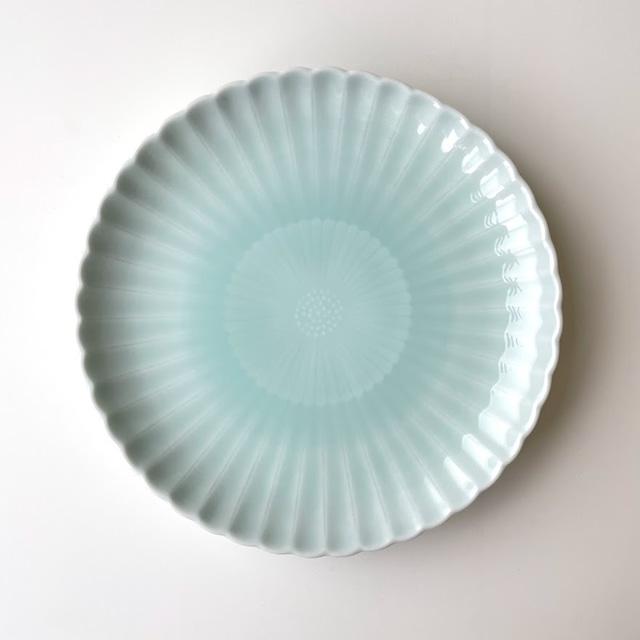 青白磁 二重菊六・五寸皿