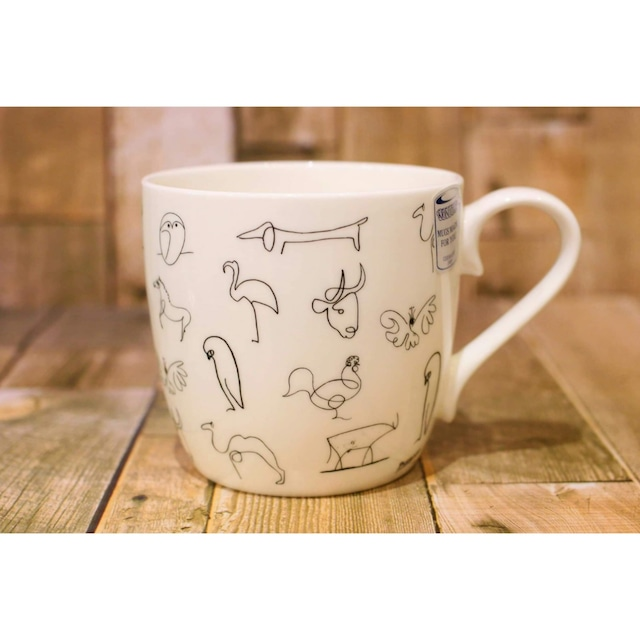 Picasso ピカソ Animaux 【artマグカップ】   浜松雑貨屋C0pernicus(電子レンジ、食器洗浄機にも対応)
