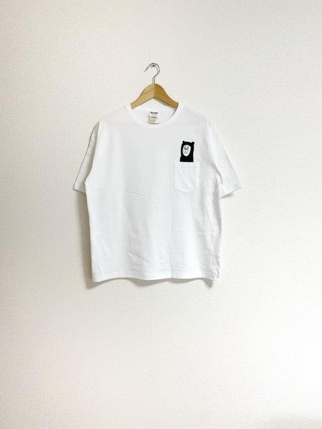 くま?ポケットTシャツ(ビッグシルエット)