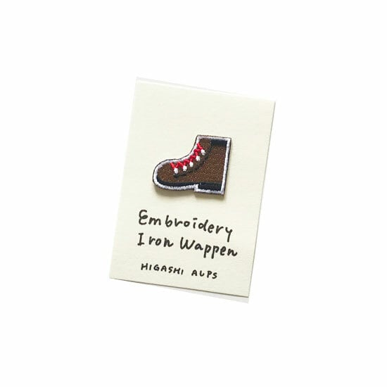 HIGASHI ALPS(ヒガシアルプス)登山靴のワッペン