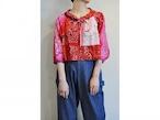 【RehersalL】bandanna tyrole blouse(red A) /【リハーズオール】バンダナチロリブラウス(レッドA)