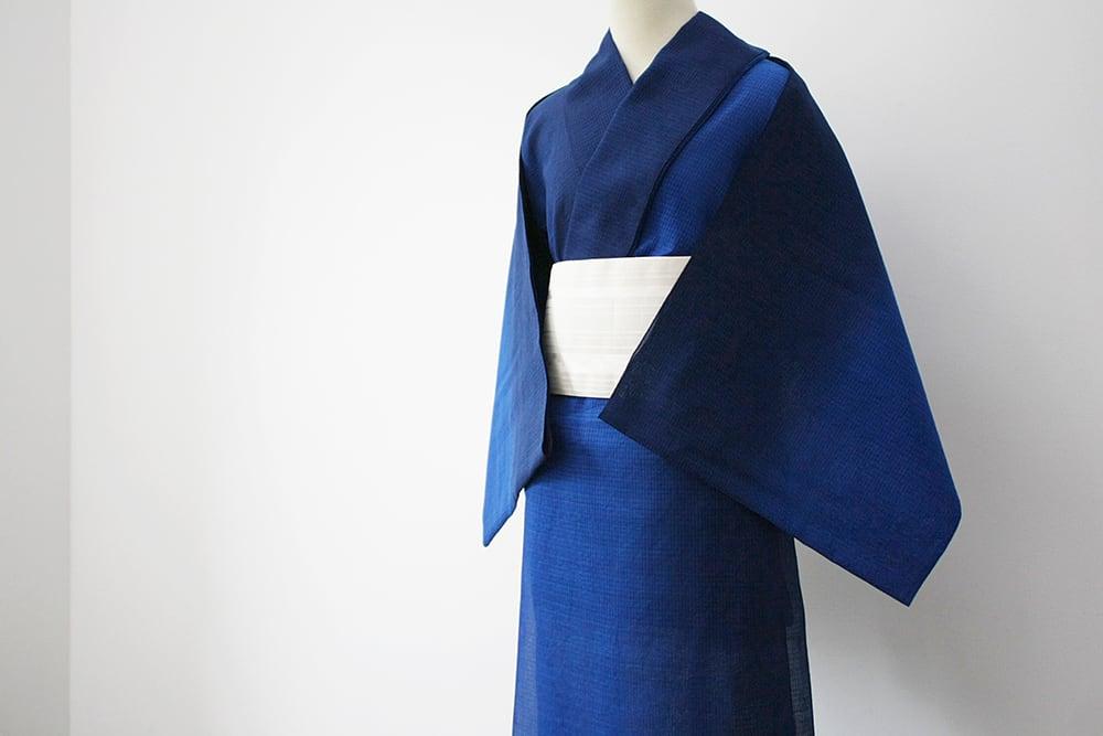 【オーダーメード】お仕立て付 誂え    浴衣・夏着物 綿紅梅 「立秋 りっしゅう」