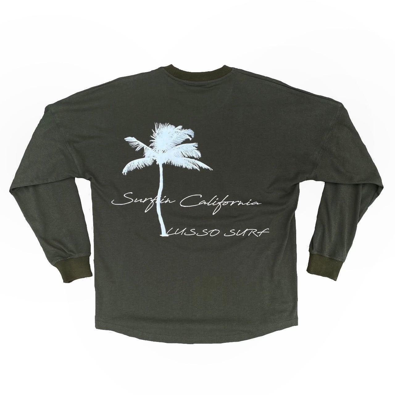 Palm tree Long sleeve Tee【Khaki】