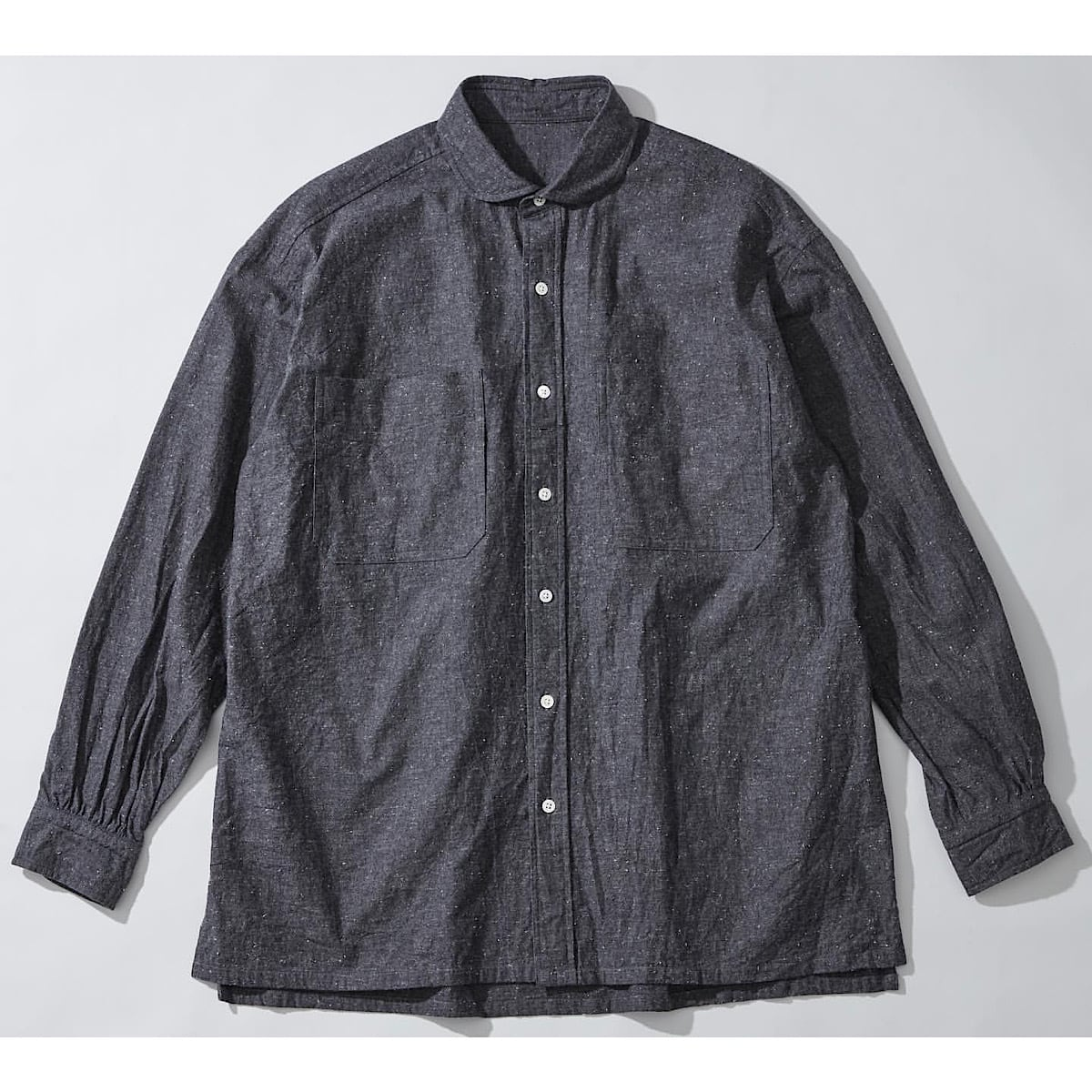 WIDE POCKET CHAMBRAY CHAIN SHIRT-WATCH CHAIN ITEM