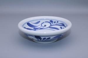 砥部焼 玉縁鉢(小) 千山窯 唐草
