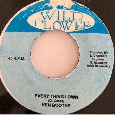 Ken Boothe(ケンブース) - Everything I Own【7'】