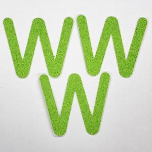 切り文字 A&Cペーパー パルプロックPBR‐006(グリーン) 粘着付 ローマ字「W」