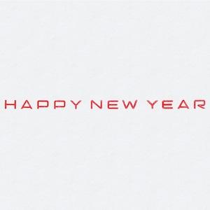 1行「HAPPY NEW YEAR」ゴム印(3x68mm)