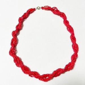 Vintage Grass Beads Twist Necklace