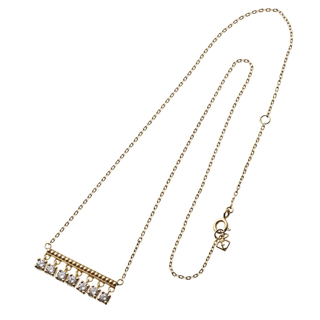 Dropstone bar necklace ドロップストーンバーネックレス ELP0010S