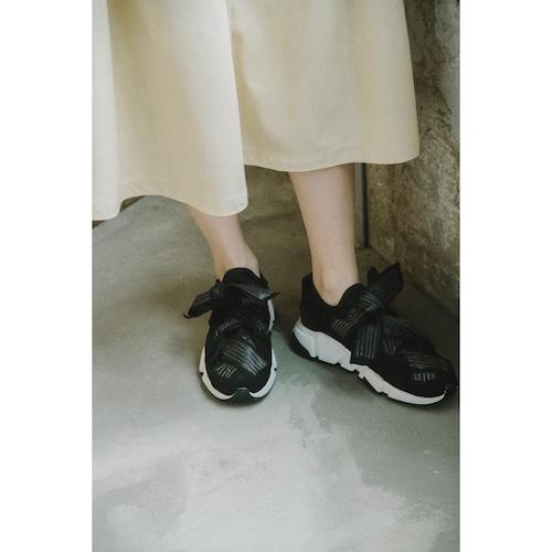【RehersalL】fake leather sneaker(black) /【リハーズオール】フェイクレザー スニーカー(ブラック)