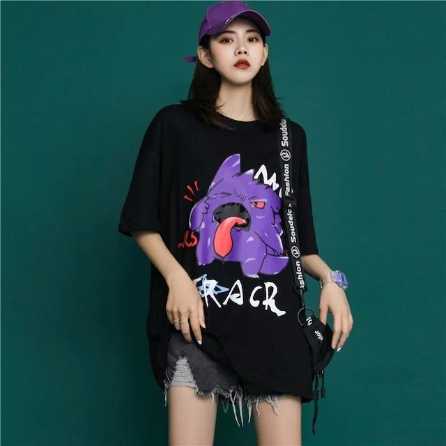 【トップス】通勤悪魔半袖ストリートプリントTシャツ29278902