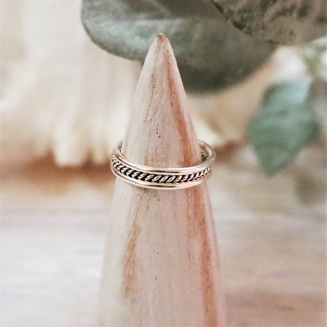3lined Ring《SILVER925》18380045【11号/13号】