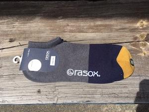 rasox  コットンリネン・スニーカー グレー×ネイビー  Lサイズ