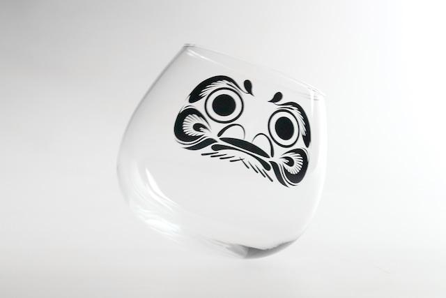 『ゆらゆらダルマグラス(大)』 *達磨 ゆらゆら お正月にピッタリ 動画映え プレゼント 縁起のいいグラス