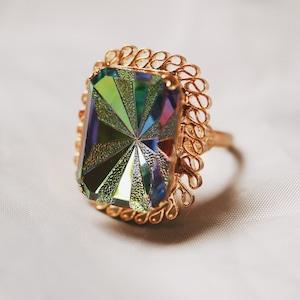 スターバーストガラスリング(指輪)