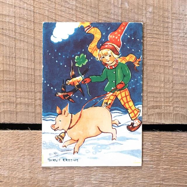 ミニ・クリスマスカード「Margit Ekstam(マルギット・エークスタム)」《200324-04》