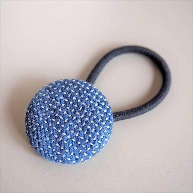 うしじま縫製 | 武州正藍染 ヘアゴム 一重刺子