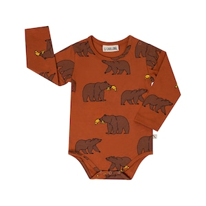 【21AW】カーラインク(CARLIJNQ)Grizzly bodysuits ロンパース くま