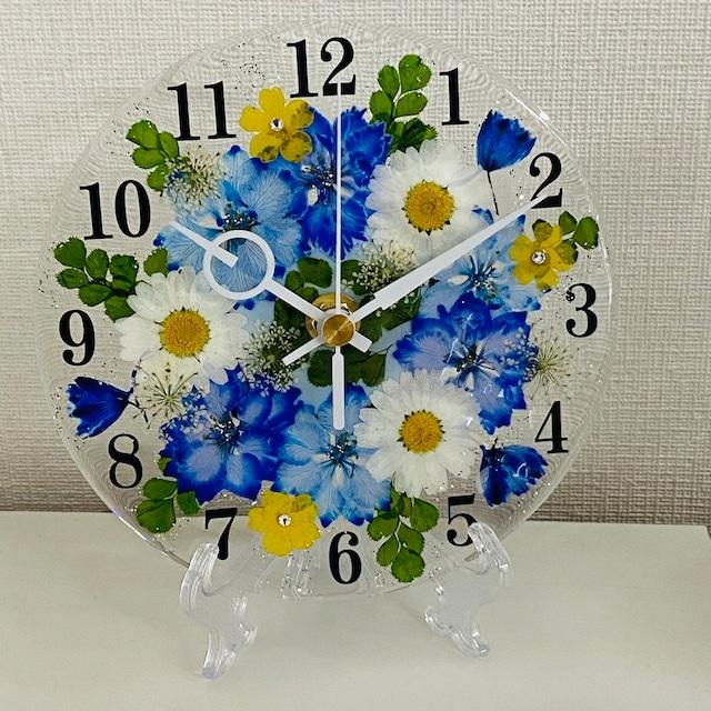 ✿花時計 【ラークスパー・ブルー】 φ15cm ハンドメイド ギフト ボックス入り