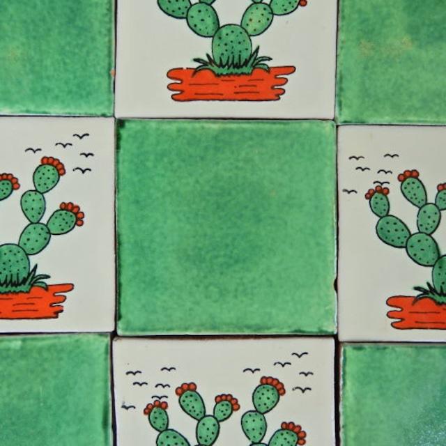 メキシコタイル グリーン